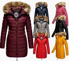 Marikoo Damen Winter Jacke Steppmantel Winter parka Steppjacke langejacke ROSE22