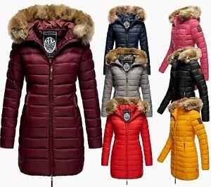 Marikoo Damen Winter Jacke Steppmantel FVS3 Parka Steppjacke Lange Jacke ROSE22