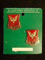 US Army 238th Aviation Battalion D Troop Crest DI DUI Devices PAIR Uniform Insig