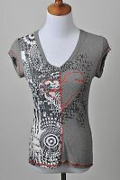 Promod Knit Top French Boutique Heart Graphic Rock & Roll Shirt Size S Or  M