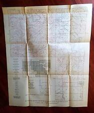 1918 Oklahoma USGS Oil & Gas Survey Map Railroad Anticlines Domes