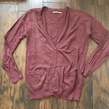 Rubbish Maroon Long Cardigan Size Large