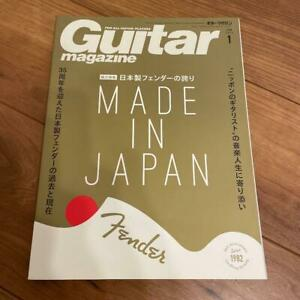 Guitare Revue Livre Feat FENDER Japon Jv Fujigen STRATOCASTER TELECASTER Used