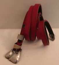 """KIESELSTEIN-CORD Vintage small """"Winchester"""" belt STERLING 1984 with red strap"""