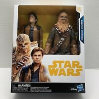 "Star Wars Chewbacca & Han Solo 2 pack 12"" Inches Tall Hasbro Action Figures"