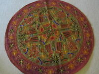 NEW TC10 HANDMADE EMBROIDERY ART DECORATIVE TABLE CLOTH-HAND MADE IN INDIA