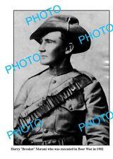 OLD LARGE PHOTO, AUSTRALIAN BOER WAR ICON, BREAKER MORANT c1902