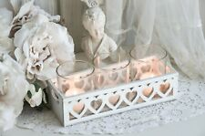 Windlicht Kerzenleuchter Teelichthalter Korb Herz Shabby Chic