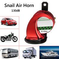 Red Loud Snail Air Horn Siren 130dB 12V Car Van Truck Motorcycle Universal