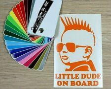 Little Dude On Board Car Safety Sticker Vinyl Decal Adhesive Window Bumper ORANG