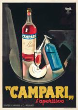 Campari L'Aperitivo, Italy, 1927, Vintage Beers, Wines & Spirits Art Deco Poster
