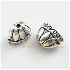 3Pcs Tibetan Silver Tone Cone Flat End Bead Caps Craft DIY 13.5x19.5mm