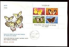 Turkey 1988 Butterflies M/S FDC #C8321