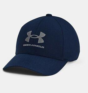 New Under Armour Boys UA ArmourVent Stretch Hat Academy Cap Fits Little Kids 4-7