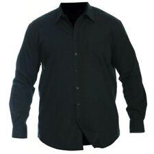 Camisas y polos de hombre de manga larga negro talla XL