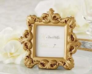 "Mini Gold Baroque Mini Photo Frame / Place Card Holder 2"" x 2.25"""