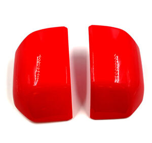 For 15-20 Ford F150 Mirror Cover Skull Cap Replacement Pair Painted Red Code PQ