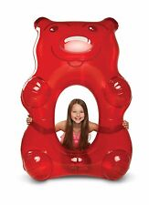 Giant Red Gummy Bear Pool Float! Perfect Summer Adult Toy. Swimming Rafts.