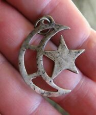 Vintage Moon and Star Sterling Necklace Pendant