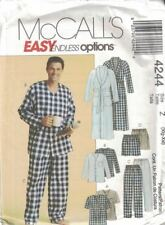 Men's Robe Belt Tops Pants Shorts PJs Sleepwear McCall's 4244 Size XL - XXL New