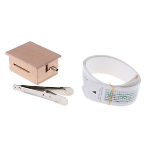 Paper Tapes Music Box DIY Hand-cranked Wooden Box with Hole Puncher