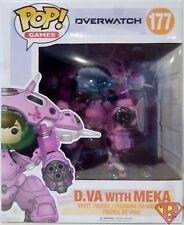 """D.VA with MEKA Overwatch Pop Games 6"""" inch Vinyl Figure #177 Funko 2017"""