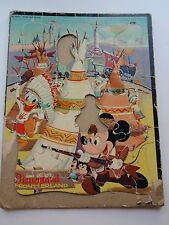 Vintage Walt Disney Frame Tray Puzzle Frontierland Mickey Donald Duck TeePee '55