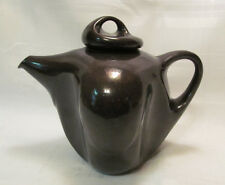 PETER SAENGER Signed Art Pottery Modern BROWN Tea/Coffee Pot with Lid