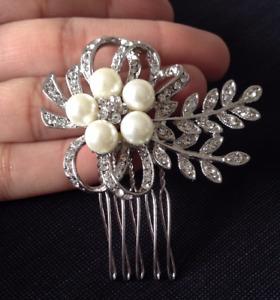 Wedding Bridal Hair comb Crystal Flower Leaf Luxury Hair Combs Hairpins Gift