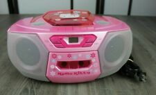 Vintage Hello Kitty CD Cassette Player Recorder AM/FM by Fisher CD201 Portable