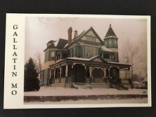 Gallatin Missouri AT Ray Home Queen Anne Victorian Postcard
