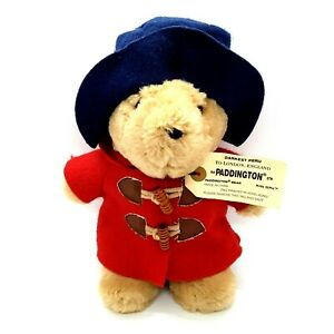"Paddington Bear 9"" Plush Teddy Sears 2009 Stuffed Animal Toy Red Coat Blue Hat"
