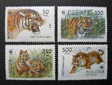 Russia 1993 #6178-6181 Mnh Og Russian Wwf Ussuri Tigers Set $2.45!
