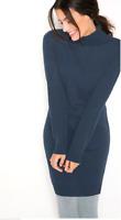 Bonprix Soft Navy Knitted Jumper Dress Size 10 / 12 NEW