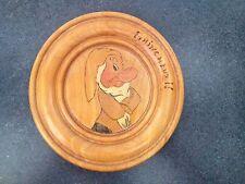 Vintage French Snow White & the Seven Dwarfs 8' Wood Plaque-