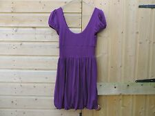 TOPSHOP Ladies Womens Purple Magenta TUNIC long TOP SIZE 8 t shirt blouse Good