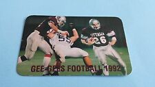 1992 CIAU/CIS/USPORTS FOOTBALL OTTAWA GEE-GEES POCKET SCHEDULE