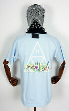 Huf Worldwide T-Shirt Tee Triple Triangle Botanical Garden Light Blue in M