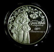 Snow White 60th, 1997,  Disney .999 Silver,1 oz Medallion, 7 Dwarfs, Scarce!