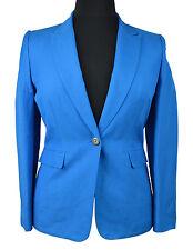 1493 Tahari Womens Turquoise Blue Linen One Button Blazer Jacket sz 10 $178
