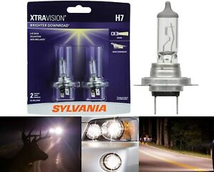 Sylvania Xtra Vision H7 55W Two Bulbs Head Light Low Beam Replace Upgrade Lamp