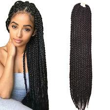 "3D Cubic Split Hair. Senegalese Twist meets Box Braid. Crochet 24"" 130g"