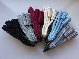 *6 PAIRS WOMEN LADIES WOOL HIGH QUALITY CHUNKY THERMAL BOOT SOCKS  Size 4-7 FVB