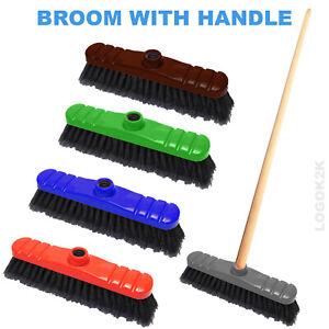 Sweeping Broom PVC Plastic Handle Indoor Kitchen Cleaning Soft Brush Floor Sweep
