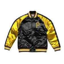 Authentic Color Blocked Pittsburgh Pirates Mitchell & Ness Satin Light Jacket