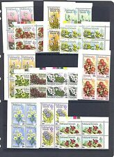 FALKLAND ISLANDS  SG 263-75 1971 FLOWERS SET AS BLOCKS OF 4 MNH