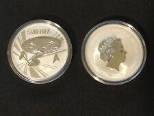 2016 Star Trek Enterprise Tuvalu 1 Oz Silver from Mint Roll Gem BU Lot 1701e