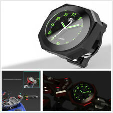 Black Motorcycle Scooter Save Energy Luminous Clock Time Alloy Gauge Waterproof