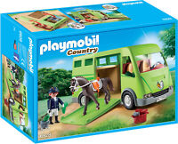 6928 Playmobil Horse Box with Opening Side Door Country Suitable for ages 5 year