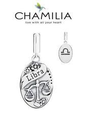 Genuine CHAMILIA 925 sterling silver LIBRA horoscope dangle charm bead, zodiac